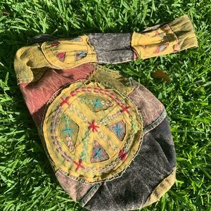 ✨ Hippie Peace Hobo Sack by Rising International✨